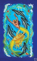 "WATER 36""x72"" Tapestry OR Sarong"