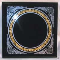 "Celtic Knot Scrying Mirror 8"" x 8"""