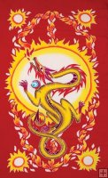 "FIRE 36""x72"" Tapestry OR Sarong"
