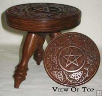 "Pentacle Altar Table 6"" tall"