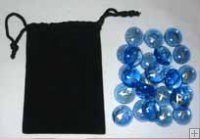 Sapphire Colored Glass Rune Set