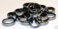 6mm Hematite Flat Ring (20/bag)