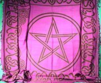 "CELTIC PENTACLES 44"" x 60"" Altar Cloth OR Sarong"